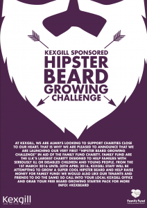Hipster Beard Growing Challenge - Kexgill Liverpool
